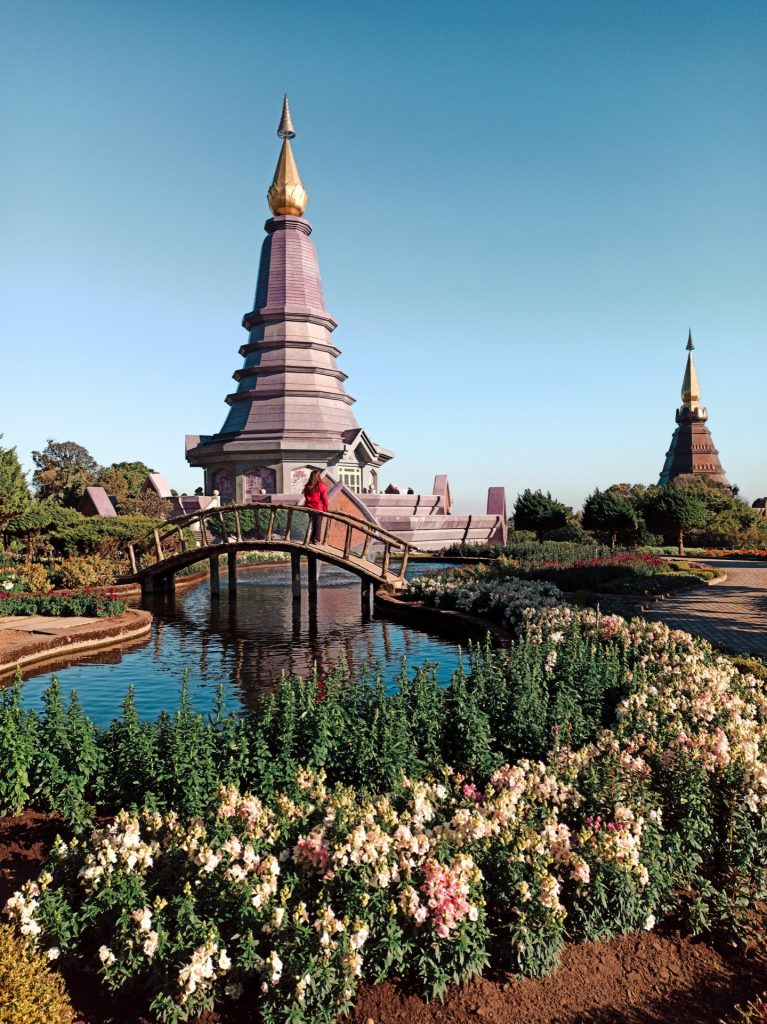 King & Queen Pagodas en el Parque Nacional Doi Inthanon, Tailandia
