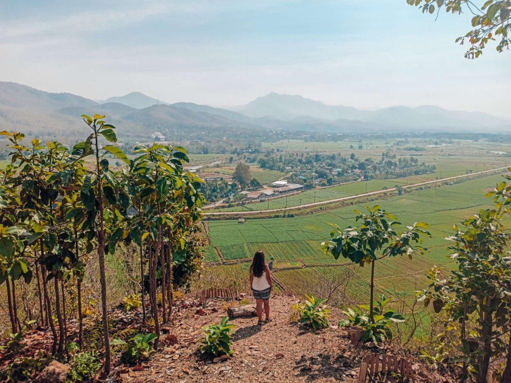 Vistas desde el Wat Phrathat Chom Mon, en Mae Sariang