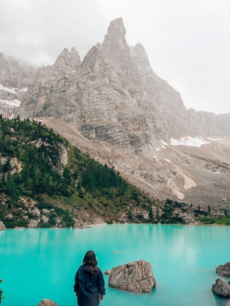 Lago di Sorapis, en las Dolomitas