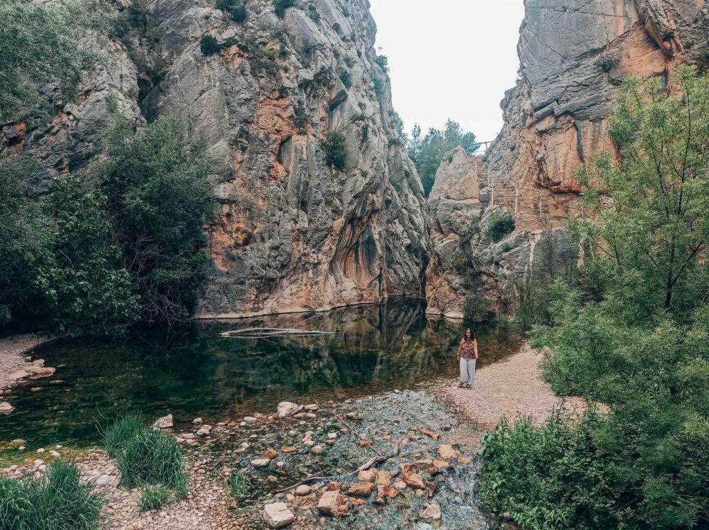 Piscinas naturales en La Fontcalda