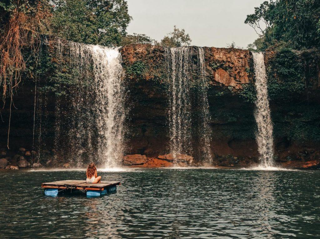 Tad Champi, una de las cascadas más bonitas de Pakse, en Laos